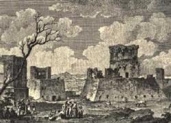Resti del Castello di Lucera, Jean Louis Desprez 1785.