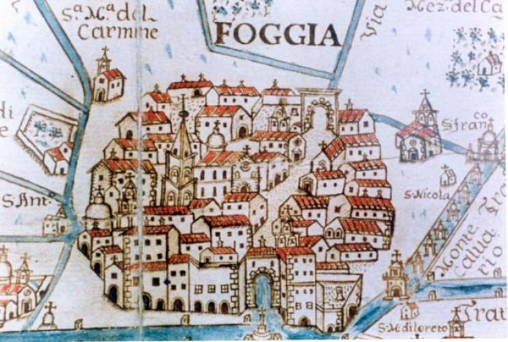 Mappa della città di Foggia (locazione Castiglione)