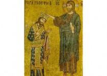 Il mosaico della chiesa della Martorana in Palermo ove Ruggero II appare incoronato da Cristo.