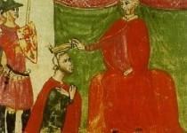 Roberto il Guiscardo investito del titolo di duca da Papa Nicolò II.