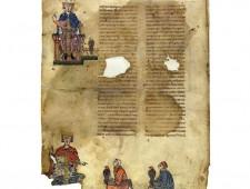 Federico II e Manfredi con i falconieri